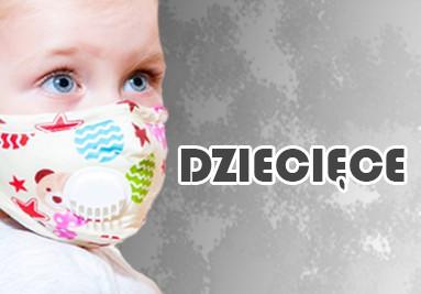 Maski antysmogowe dziecięce